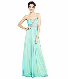 46c0c439c16 Harley s prom dress 2014 SHS   At amp t Stadium Jodi Kristopher Strapless  Beaded 2Tone Gown