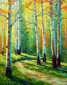 Colors Of The Season  Oil on canvas  David G Paul