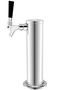tall commercial grade air-cooled draft beer tower diameter draft tower features standard faucets with metal levers Draft tower is compatible with all… Beer Tower, Cake Decorating Airbrush, Specialty Appliances, Kitchen Appliances, Chrome Plating, Ninja Coffee, Decorating Tools, Wine Making