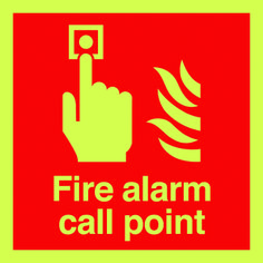 Fire alarm call point sign.  Beaverswood - Identification Solutions