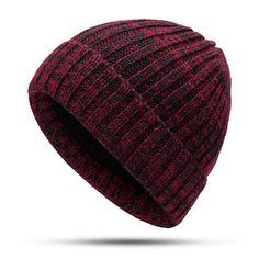 Men Women Winter Mixed Color Earmuffs Knit Plush Beanie Hat Outdoor Ski  Skull Cap dc46602607f2