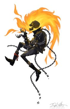 Ghost Rider by Isaac Orloff Comic Book Characters, Comic Character, Comic Books Art, Comic Art, Spirit Of Vengeance, Marvel Comics Art, Ms Marvel, Captain Marvel, Ghost Rider Marvel