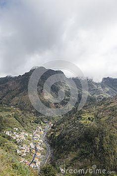 Mountains around Nuns valley on the island of Madeira.