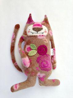 Flower Kitty by sweetpoppycat on Etsy