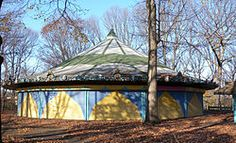 The Forest Park Carousel, located in the Woodhaven section of the New York City borough of Queens, was built by Daniel C. Muller and one of only two surviving Muller brothers carousels.[18] It was listed on the National Register of Historic Places in 2004