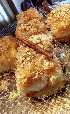 Αφράτο τραγανό γευστικό γαλακτομπούρεκο με κανταίφι !!! #Γλυκό