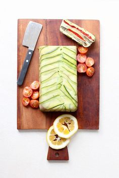 Chargrilled red pepper and eggplant terrine. #vegan