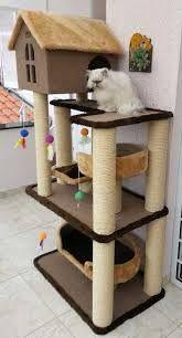 Gatos Cat Tree House, Cat House Diy, Diy Cat Tower, Diy Cat Tent, Cat Towers, Cat Stands, Cat Playground, Cat Room, Cat Condo