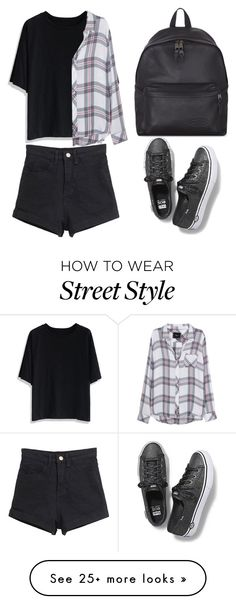 """""""Street Style"""" by cecilia-payne-1 on Polyvore featuring Chicwish, Rails, Keds and Eastpak"""