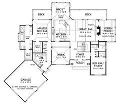 Search house plans from the Donald Gardner portfolio of custom home designs. The best home plans since Custom modification to all floor plans available. Lake House Plans, Cottage House Plans, Dream House Plans, Small House Plans, House Floor Plans, Dream Houses, Farm House, Best Home Plans, Home Design Floor Plans
