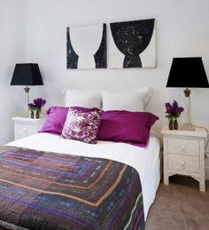 white and purple and magenta