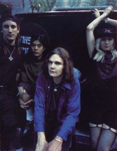 Smashing Pumpkins, when they WERE Smashing Pumpkins. Jimmy Chamberlin, James Iha, Billy Corgan, Billy's hair, and D'Arcy Wretzky.