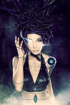 Cyborg Medusa by EaKoNe.deviantart.com