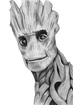 Drawing Marvel I Am Groot by Kresli on deviantART - Drawing Cartoon Characters, Comic Drawing, Character Drawing, Cartoon Drawings, Cool Drawings, Drawing Sketches, Comic Books Art, Comic Art, Image Joker