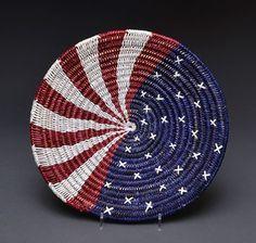 """""""Flag"""" Basket by Sally Black (Navajo)"""