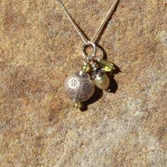 Green Ladybug Charm Necklace by BrownEyedGirlSB on Etsy, $18.00