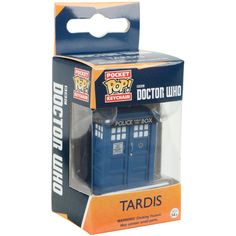 Hot Topic Funko Doctor Who Pocket Pop! TARDIS Key Chain (£4.78) ❤ liked on Polyvore featuring accessories, multi, mini key chain, fob key chain, mini key ring, key chain rings and ring key chain