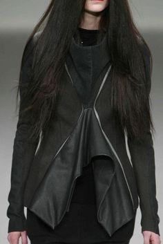 RICK OWENS, AW08.  | macabre | high fashion | goth | editorial | dark fashion | runway | catwalk.  women's fashion and style.