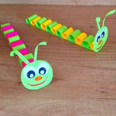 Handicrafts with paper paper crafts videos Diy Crafts For Kids, Easy Crafts, Arts And Crafts, Diy Paper, Paper Crafts, Craft App, Amazing Food Photography, Chenille, Kids Corner