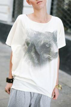 Bear with me top Bear T Shirt, Animal, Mens Tops, Shirts, Fashion, Moda, Fashion Styles, Animals, Dress Shirts