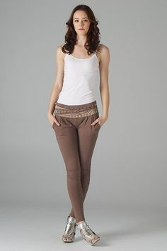 Embellished Accent Knit Pants -$42