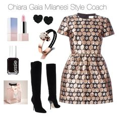 """""""Happy Friday"""" by chiaragaia on Polyvore featuring RED Valentino, Jimmy Choo, Betsey Johnson, Abercrombie & Fitch, Essie, Sephora Collection, women's clothing, women's fashion, women and female"""
