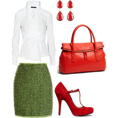 Wear red and green to work. Want.