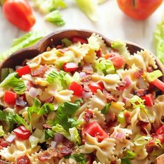 Vynikající oběd za 20 minut z jedné pánve Blt Pasta Salads, Easy Pasta Salad, Pasta Salad Recipes, Macaroni Salads, Healthy Diet Recipes, Healthy Snacks, Cooking Recipes, Veggie Recipes, Orzo