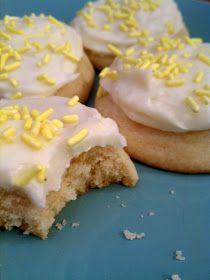 emma the joy: lemon sugar cookies with lemon cream cheese frosting.