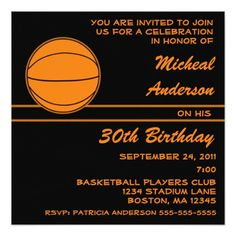Basketball Birthday Party Invitation Invitations Parties Ideas Anniversary