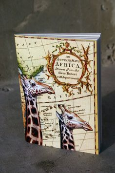 Giraffe couple vintage style  journal by GuBoArtBook on Etsy,