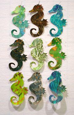 Seahorses Iron On Appliques by zizzybob on Etsy