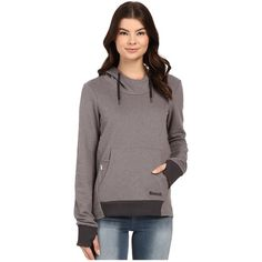 Bench Attentiveness Overhead Pullover Hoodie (Smoked Pearl) Women's... ($69) ❤ liked on Polyvore featuring tops, hoodies, bench hoodie, pullover hoodie, sweatshirt hoodies, long sleeve pullover and red hoodies