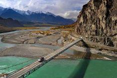 Ghizer, a bridge in Gilgit-Baltistan's Ishkoman valley in northern Pakistan.