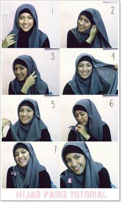 Trendy Hijab Styles Tutorials of 2015 Tutorial Hijab Pesta, Hijab Style Tutorial, Islamic Fashion, Muslim Fashion, Modest Fashion, Hijab Fashionista, Hijab Fashion Inspiration, Muslim Hijab, Classic Outfits
