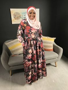 Fabulous in Hijab - Dresses Basics Spring 2017 Cape Town South Africa, Hijab Dress, Vintage Floral, Stuff To Buy, Dresses, Fashion, Vestidos, Moda, Fashion Styles