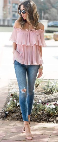 Dale a tu look un toque femenino con el color rosa blush http://beautyandfashionideas.com/dale-a-tu-look-un-toque-femenino-con-el-color-rosa-blush/