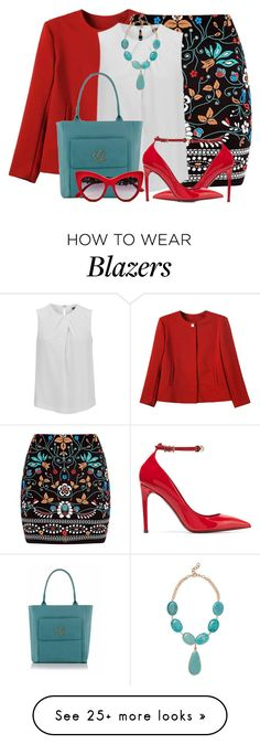 """""""Embroidered Skirt & Blazer"""" by brendariley-1 on Polyvore featuring Marni, Joseph, Kenneth Jay Lane, Valentino and Dolce&Gabbana"""