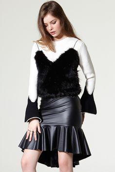 Lola Faux Fur Bustier  Discover the latest fashion trends online at storets.com #bustier #fauxfur #vest