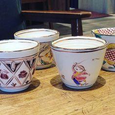 斎藤知さんフリーカップ一つ一つ丁寧に手描きで描かれています温かみのある優しい器です #織部 #織部下北沢店 #陶器 #器 #ceramics #pottery #clay #craft #handmade #oribe #tableware #porcelain