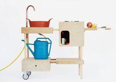 Cocina moderna / de madera / móvil / de exterior studiomama
