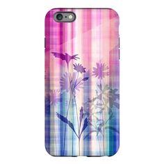 Purple Flowers iPhone 6 Plus/6s Plus Tough Case on CafePress.com