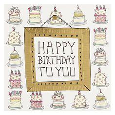 Buy Pocket Type Writer Cakes Birthday Card Online at johnlewis.com