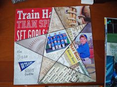 Baseball scrapbook page - could modify this for an All Star page