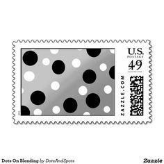Dots On Blending Postage Stamp