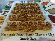 Organizer by Day: Microwave! Homemade Peanut Butter Chocolate Chip Granola Bars