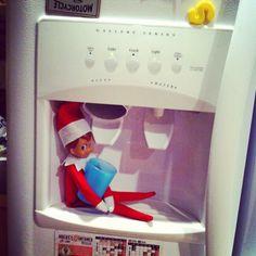 Elf on a Shelf - Who's thirsty?