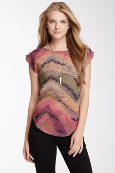 Ruched Short Sleeve Top by Sweet Pea on @HauteLook