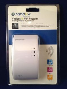 SANOXY (TM) High Speed Wireless-N Wifi Repeater - Wi-Fi Wireless Range Extender - 300 Mbps 802.11 b/g/n Access Point / Repeater / Signal Booster - Wireless network extender 802.11n, 2.4GHz, RJ-45 Wireless-N WiFi 300Mbps AP Access Point /Repeater Wireless 802.11N Network Router Range Expander by SANOXY. $39.99. SANOXY (TM) Wireless-N AP/Repeater extends the range of your WLAN network WiFi Range extender with built-in Fast Ethernet port connects any wired Ethernet device to your n...