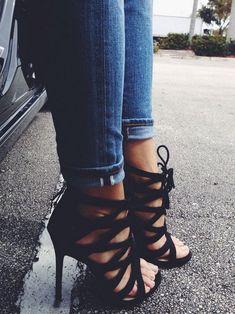 Black #Strappy #Heels